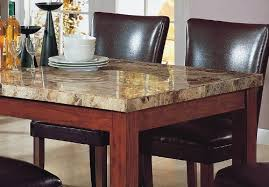 Amazon 40PCS Granite Top Dining Table 40 Brown Parson Chairs Inspiration Granite Dining Room Tables And Chairs