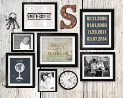 asymmetrical vintage industrial family gallery wall idea with rusty letter vintage keys and clock