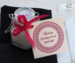 wedding favors for spring celebrations letterpress wedding Wedding Favor Message Ideas bath salt wedding favor with red ribbon Wedding Favor Messages From Lava