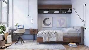 diy bohemian bedroom dark brown wooden headboard bed white table lamp bedside beige platform bed frame