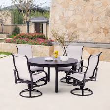 outdoor sling chairs. Yardbird Pepin 7 Piece Rectangular Dining Set With Sling Chairs Outdoor Furniture