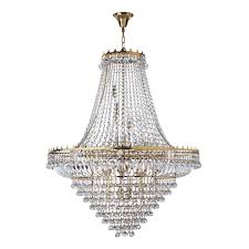 searchlight versailles 19 light dia 102cm clear crystal chandelier gold frame