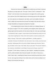 purple hibiscus essay humanities mr sam bob jenkins  3 pages kite runner essay