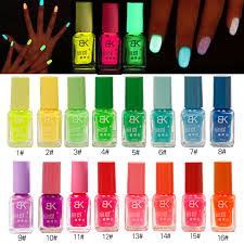 Colorful <b>Candy Fluorescent Colors</b> Nail Polish Light Glow in Dark ...