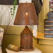 punched tin lighting and punched tin chandeliers for tin lamp shades table lamps