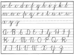 Handwriting Chart Print Handwriting Practical Pages