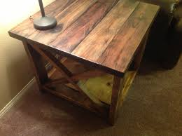 rustic end tables diy