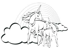 Baby Unicorn Coloring Pages Free Free Printable Rainbow Coloring