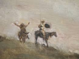 detail of don quixote oil on canvas painting by jean baptiste camille corot
