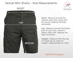 World Of Preppers Tactical Bdu Size Chart Measurement