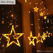 decorative string lighting. cheap moon star led curtain string lights 110v 220v waterproof holiday christmas bedroom decoration lamp warm white rgb decorative lantern lighting n
