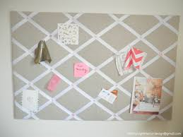 Pin Board Designs Diy Ribbon And Linen Pinboard Beautiful Home Interior Design