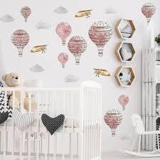 Rosy Pink Hot Air <b>Balloons</b> | Urbanwalls