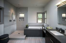 Grey Bathrooms Fine On Bathroom For 22 Stylish Designs Decorating Ideas  Design Trends 18