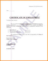 Certification Of Employment Letter With Salary Image Gallery Hcpr
