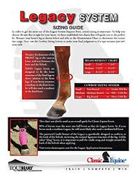 Bell Boot Size Chart Classic Equine Legacy Smb Boots Front Colors