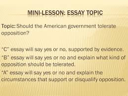 yesterday  understand or paraphrase the essay question  3 topic