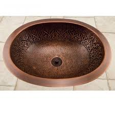 Decorative Bathroom Sinks 19 Almont Decorative Oval Hammered Copper Sink Bathroom