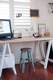 trestle office desk. Trestle Office Desk Table White Timber Dining Console House Design Ideas