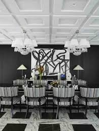 greg natale black and white dining room interior