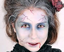 makeup vire zombie woman look simple makeup scary ideas