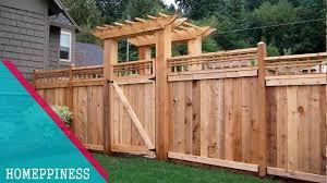 Nice Wood Fence Designs Latest Design 50 Wood Fence Ideas 2017