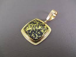 duane maktima black jade 22kt gold infused pendant