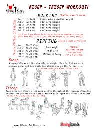 tricep bicep workout sheet