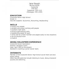 Delighted Resume Template For High School Student With No Work