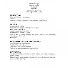 Unusual Sample Resume For High School Senior Applying To College