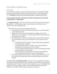 Final Portfolio Reflection Essay