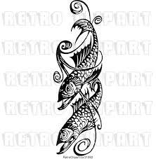 Swirl Design Co Vector Clip Art Of Retro Fish And Swirl Design By Prawny