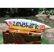 40 landshark shark bite surfboard surf sign tropical wele sign hawaiian gifts with aloha