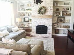 used kitchen cabinets for augusta ga lovely built ins shiplap whitewash brick fireplace bookshelf styling