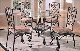 small round glass top dining table creative of glass round dining table and chairs dining room