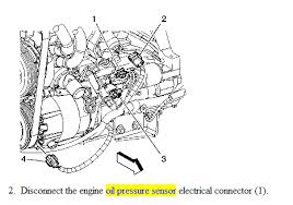 how to replace oil pressure sending unit on 2006 impala v6 graphic