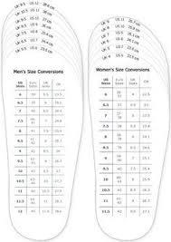 Mens Shoe Measurement Chart Shoes Measurement Chart For Printable Adult Men And Woman
