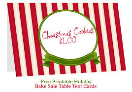 bake table tent cards