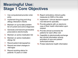 Meaningful Use Stages Chart Ehrs In Practice The Meaning Of Meaningful Use