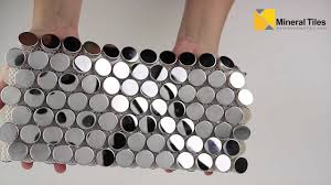 stainless steel mosaic tile penny round 108tmstfj023