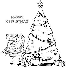 Christmas For God Spongebob Christmas Coloring Pages