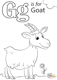 Small Picture Letter G is for Goat coloring page Free Printable Coloring Pages