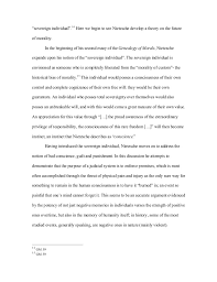 "final essay on nietzsche final draft ""sovereign"