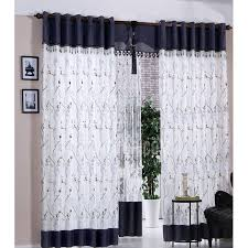 Curtains ~ Curtains Navy Blue And White Polyester Embroidered Floralttern  Bedroom Image Inspirations 93 Blue And White Curtains Image Inspirations.