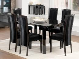 best black glass extending dining table 6 chairs inspirational stylish black dining table set dining table