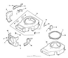 kohler cv12 5 1270 john deere 12 5 hp parts diagrams blower housing amp baffles 6 27 39