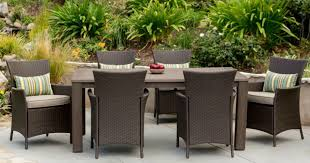 home depotcom patio furniture. Hampton Bay Tacana 7-Piece Wicker Outdoor Dining Set With Beige Cushions Home Depotcom Patio Furniture
