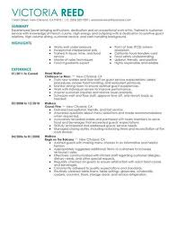 waiter resume sample food service waitress waiter resume samples tips with regard