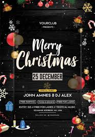 Free Christmas Event Psd Flyer Template For Christmas Party