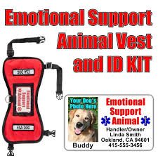 Animal And Set Id Vest Emotional Tag Support